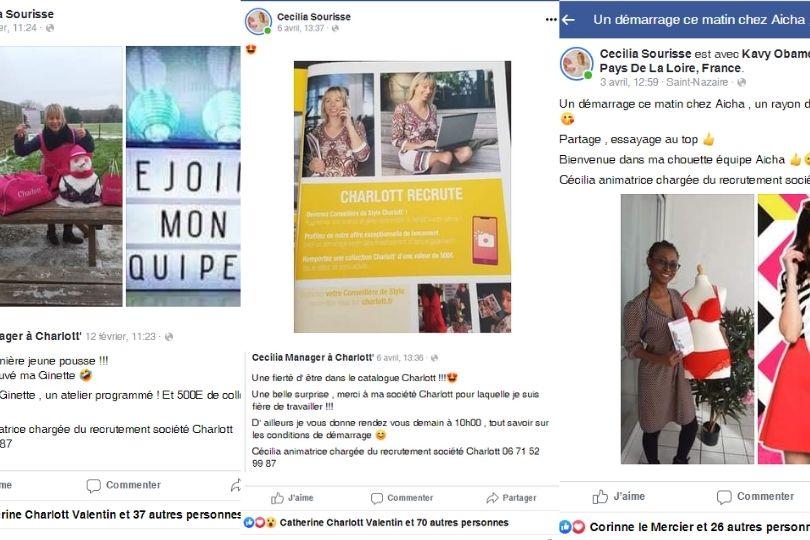 Cécilia VDI Charlott' recrute via Facebook