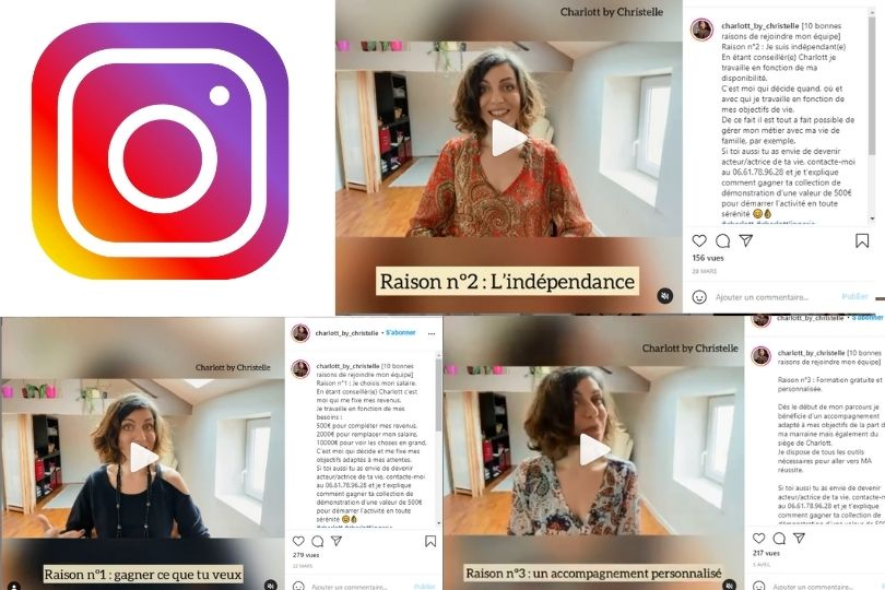 Christelle VDI Charlott' recrute sur Instagram